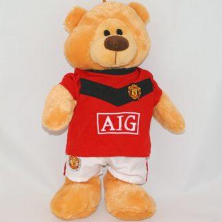 Relikvia plüss medve Manchester United szurkolóknak.