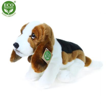 Valósághű basset hound plüss kutya