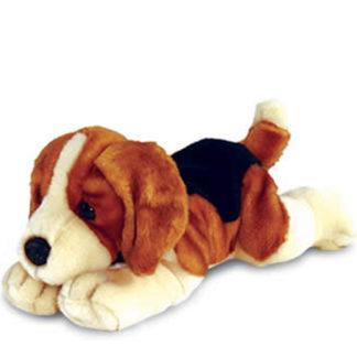 Ultracuki fekvő beagle plüss kiskutya.