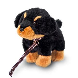 Mini roti kutyus püssből, pórázzal.
