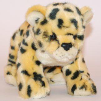 Közepesen nagy leopárd kölyök plüssállat.