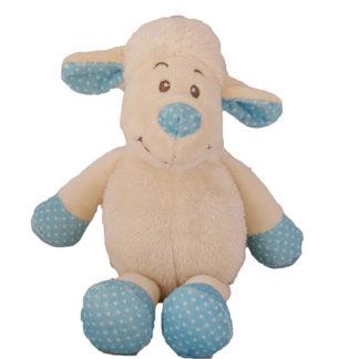 25 cm-es méretű blüss bárány fiús színben.