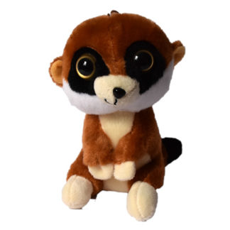 Elragadóan néző aranyos szurikáta játék figura.