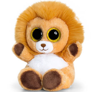 Hatalmas és ragyogó szemű animotsu plüss oroszlán.