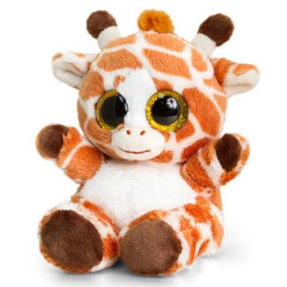 15 cm-es nagy szemű Animotsu zsiráf plüssjáték.