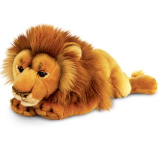 Szuper minőségű lesben álló oroszlán plüssfigura.