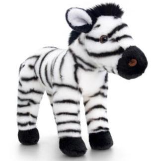 25 cm-es szép zebráról mintázott plüssállat.