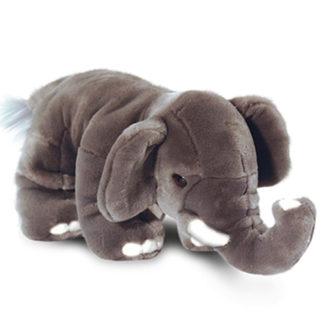 Közepes nagyságú lenyűgöző külsejű elefánt figura.