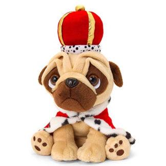 Plüss mopsz királyi ruhában