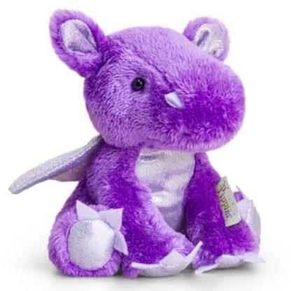 Kisméretű, lila színű sárkány plüssfigura a Keel Toys-tól