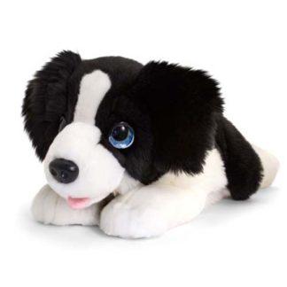 nagyméretű border collie plüss kutya