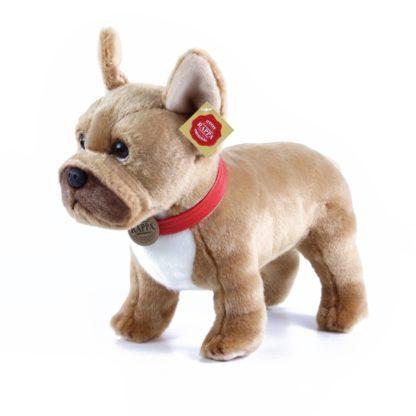 barna színű plüss francia bulldog