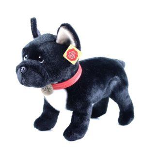 fekete francia bulldog plüsskutya 30 cm