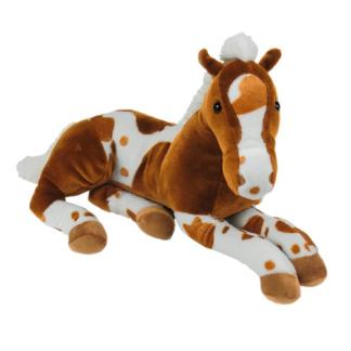 Óriás plüss ló barna-fehér színű