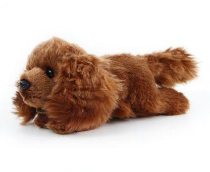Spániel plüss kutya barna színben