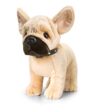 Álló plüss francia bulldog nykörvvel