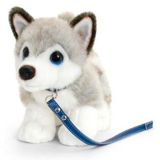 husky plüss kutya csillogó szemekkel