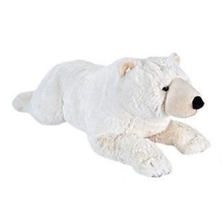 Élethű hatalmas plüss jegesmedve 76 cm