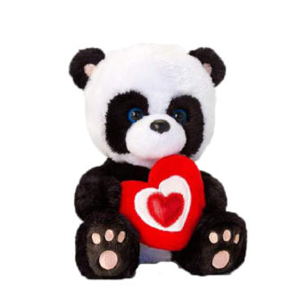 Plüss panda mackó Valentin napra