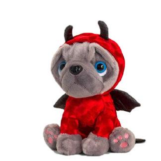 Valentin napi plüss francia bulldog ördög ruhában