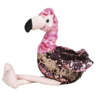Flitteres plüss flamingó pink-tarka