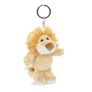 Plüss oroszlános kulcstartó 8 cm