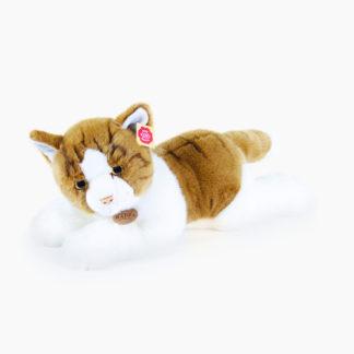 Óriás plüss cica barna-fehér színű