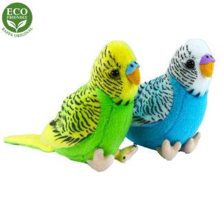 hangot adó hullámos plüss papagájok