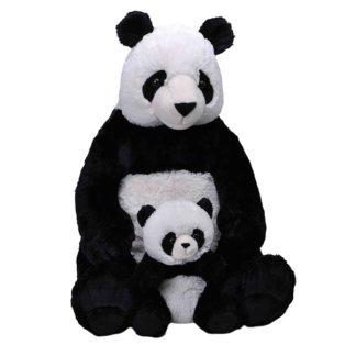 Óriás plüss panda a kicsinyével
