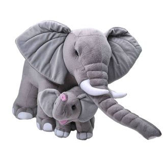 Óriás plüss elefánt kiselefánttal