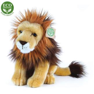 Ülő hím oroszlán plüssállat 25 cm