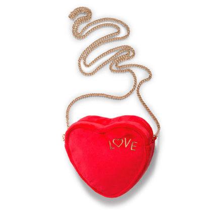 Szív alakú piros Nici plüss táska