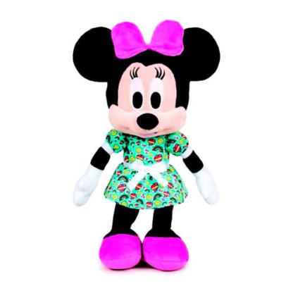 Disney plüssfigura Minnie zöld ruhában 30 cm