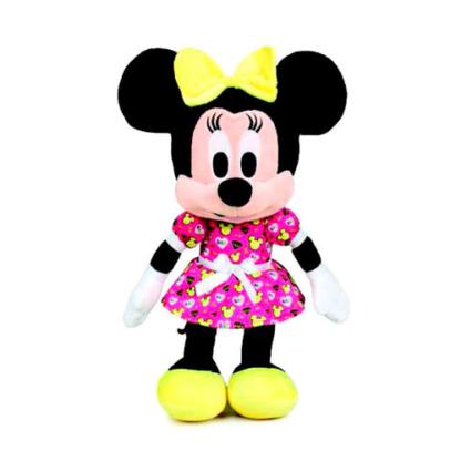 Minnie plüss mintás lila ruhában 30 cm