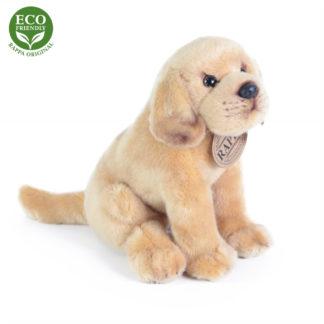 Labrador plüss kutyuska zsemle színben