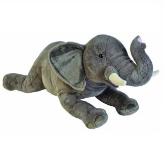 Óriás afrikai elefánt plüssjáték fekvő