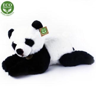 Nagy fekvő plüss panda 45 cm