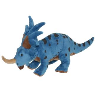 Plüss dinoszaurusz Styracosaurus kék-fekete színben
