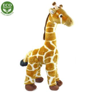 Valósághű zsiráf plüssállat álló