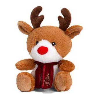 Cuki karácsonyi rénszarvas plüssfigura