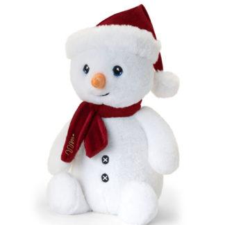 Karácsonyi hóember plüssfigura