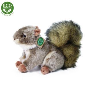 Élethű plüss mókus ülő 24 cm