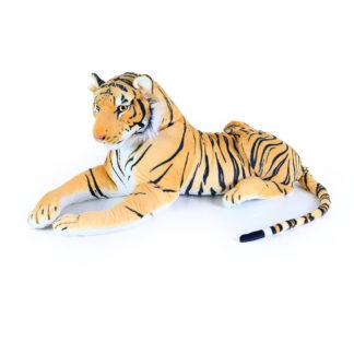 Fekvő plüss tigris nagy méretű 90 cm