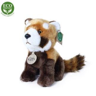 Vörös panda plüss állat ülő