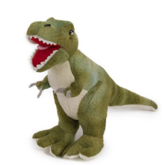 Zöld plüss T-rex dinó figura 15 cm
