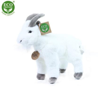 Plüss kecske figura fehér színű