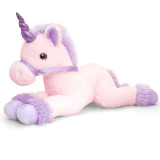 Keel Toys óriás plüss unikornis rózsaszín-lila