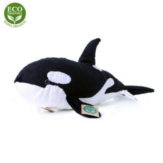 Valósághű kardszárnyú delfin plüssfigura
